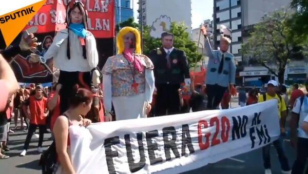 Manifestation contre le sommet du G20 à Buenos Aires - Sputnik France