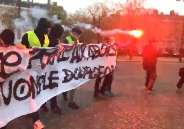 Gilets jaunes le 1 décembre 2018 à Paris