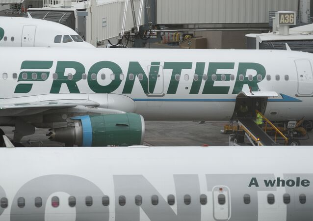 Un avion de la compagnie Frontier Airlines