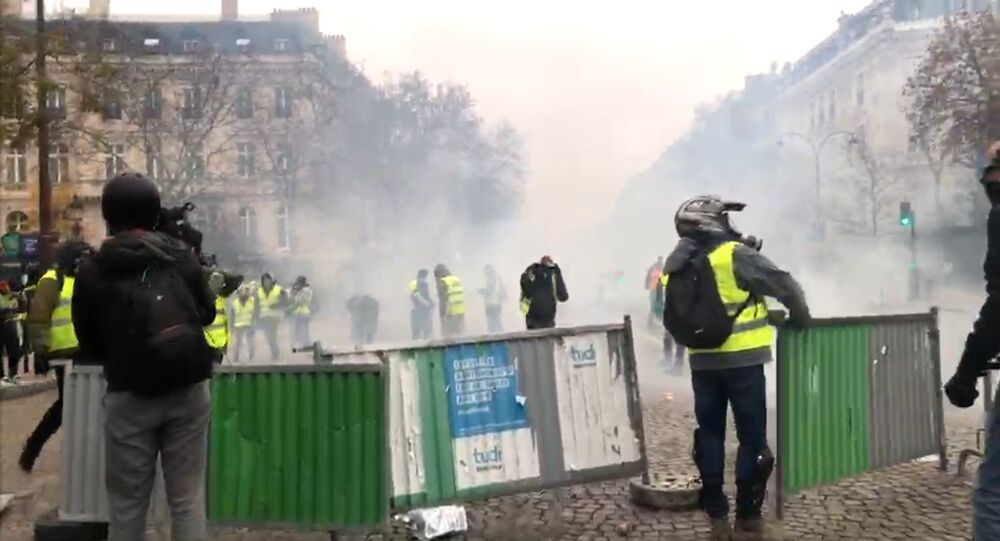 Gilets jaunes le 1 décembre 2018 à Paris (image d'illustration)