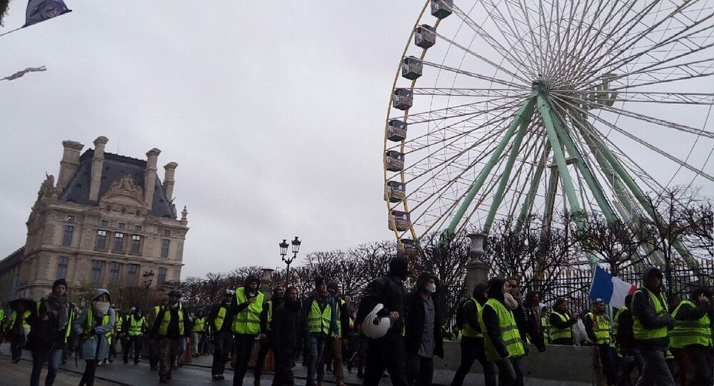 Gilets jaunes le 1 décembre 2018 à Paris (Louvre)