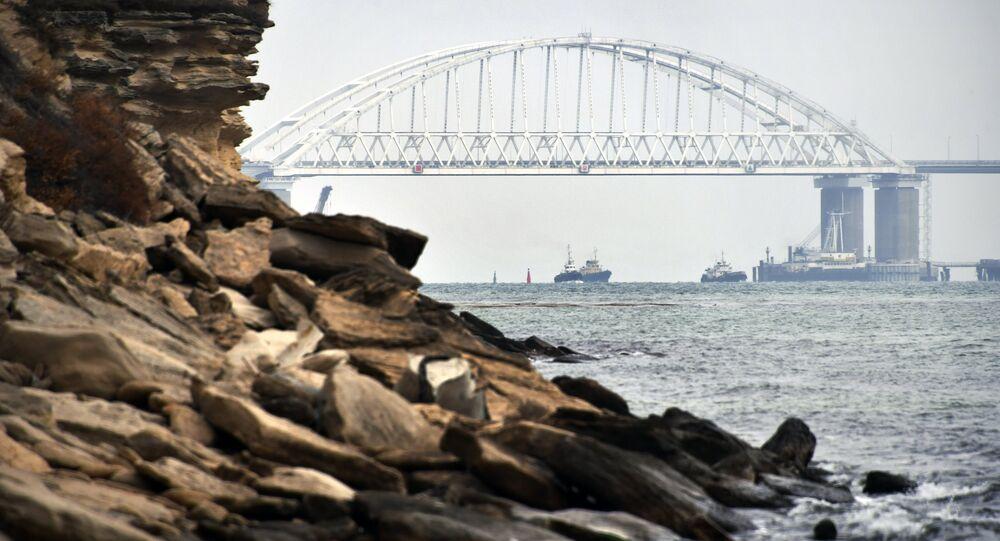 Détroit de Kertch, reliant la mer Noire et celle d'Azov. Illustration