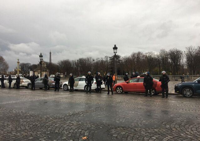 Nouvelle action des ambulanciers à Paris, le 3 décembre
