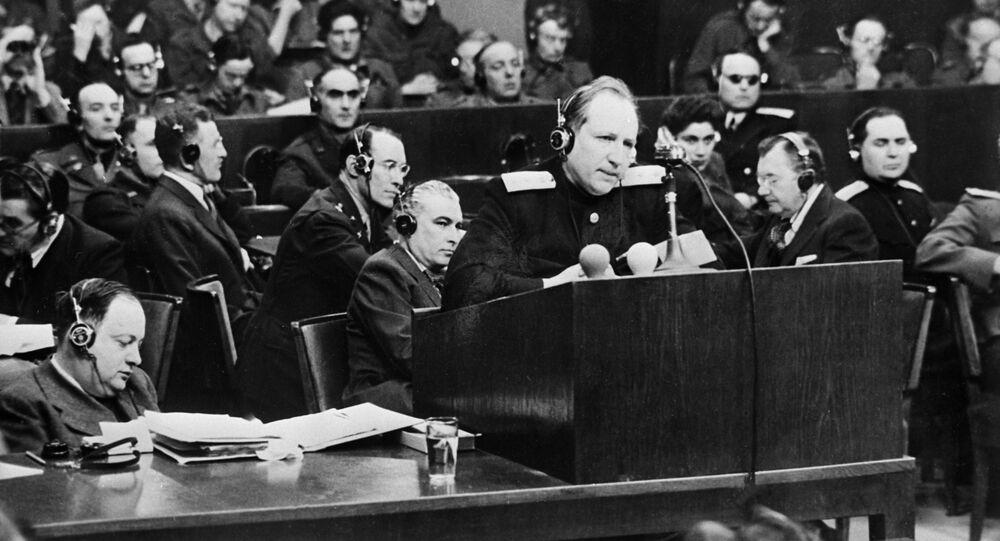 principal accusateur pour l'URSS au procès de Nuremberg Roman Roudenko