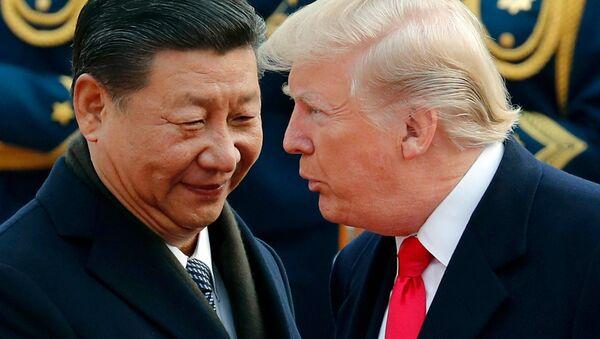 Xi Jinping et Donald Trump, novembre 2017 (image d'illustration) - Sputnik France