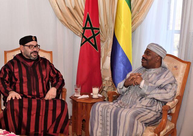 Le roi Mohammed VI et le Président Ali Bongo Ondimba