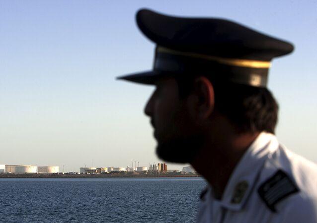 Un agent de sécurité à Chabahar