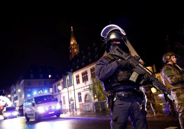 Les forces de sécurité à Strasbourg