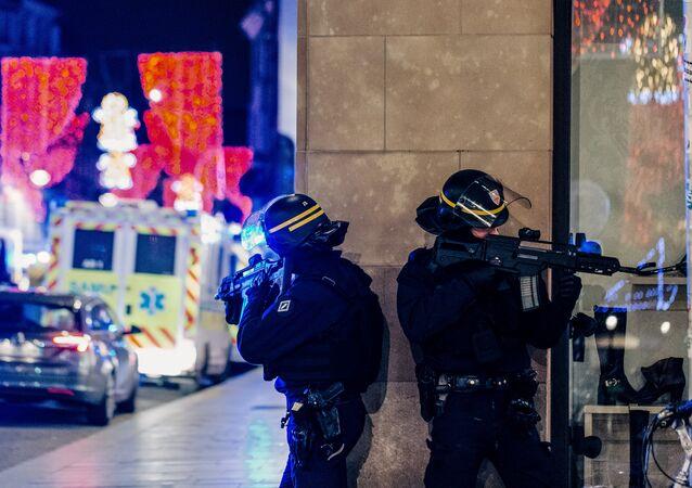 Les policiers français à Strasbourg