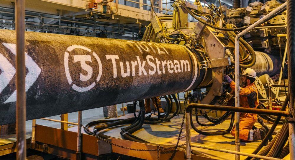 Construction du Turkish Stream