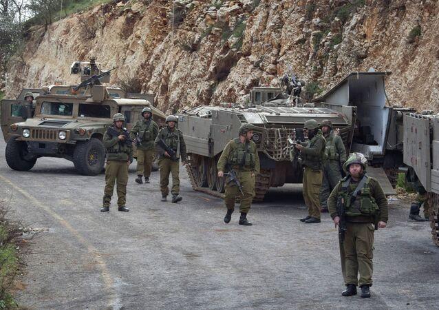 Militaires israéliens à la frontière avec le Liban, archives