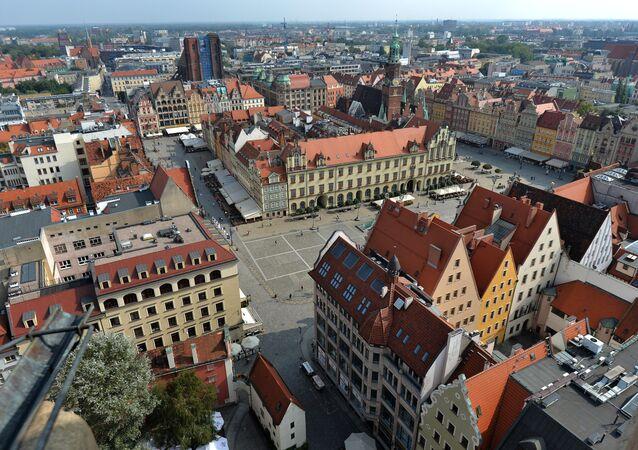 La ville de Wroclaw, Pologne