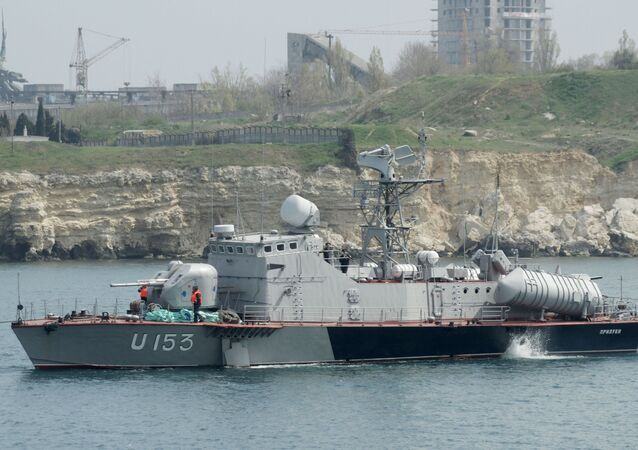 La vedette lance-missiles Priluki de la Marine ukrainienne