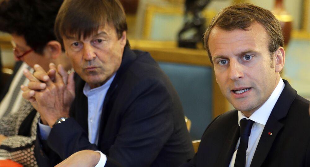 Emmanuel Macron avec Nicolas Hulot