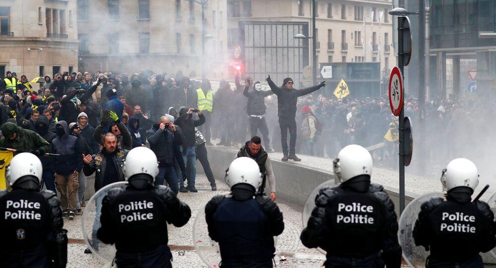 Marche contre le pacte de Marrakech à Bruxelles