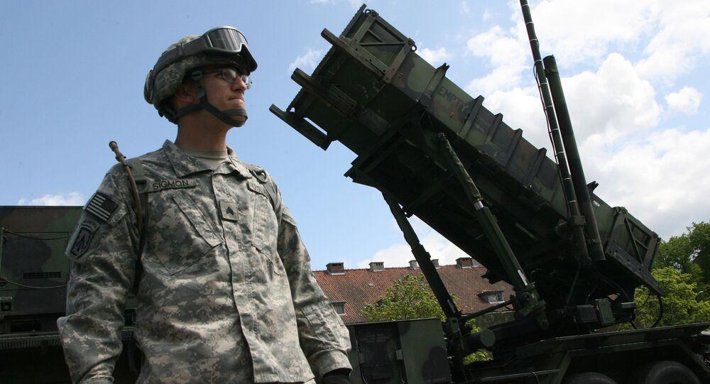Une batterie de missiles américains Patriot