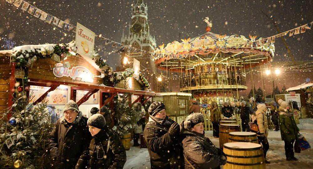 Un marché de Noel sur la Place Rouge