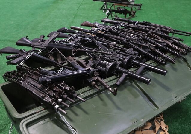 Les armes d'infanterie saisies aux radicaux syriens (archive photo)