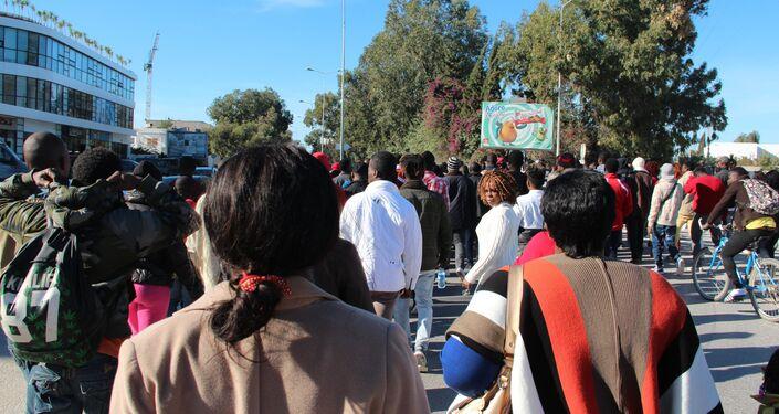 Manifestation d'Ivoiriens après le meurtre du chef de leur communauté