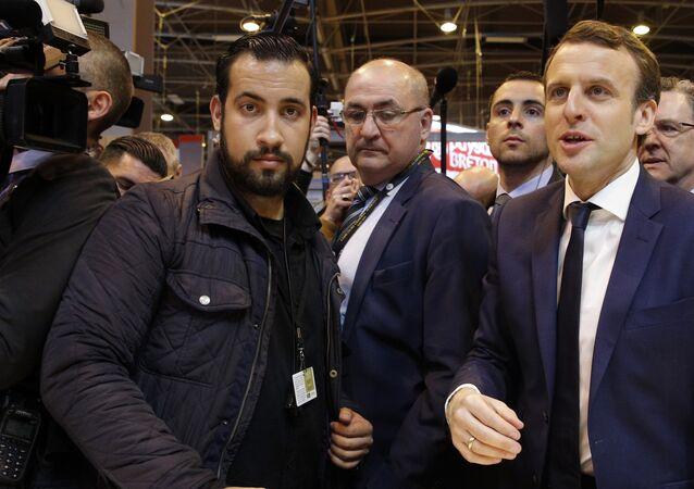 Alexandre Benalla et Emmanuel Macron en mars 2017