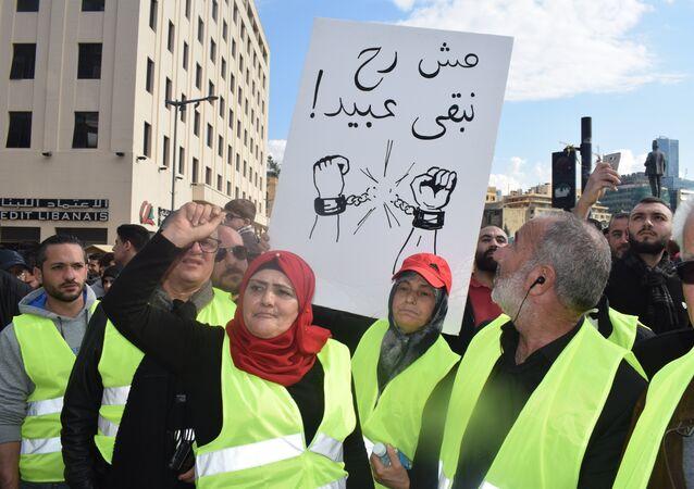 Qu'est-ce qui pousse les Gilets jaunes libanais à manifester?