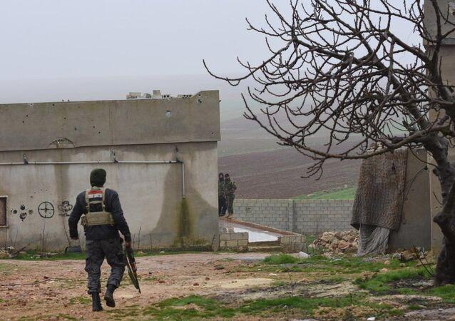 Forces syriennes déployées dans le gouvernorat d'Alep (archive photo)