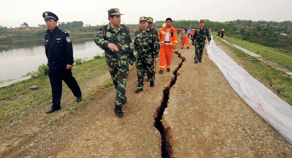 Un barrage dans la province de Sichuan après le séisme de 2008 (archive photo)