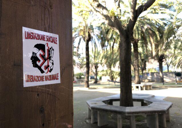 Le logo du Syndicat des travailleurs corses dans Biguglia en Haute-Corse