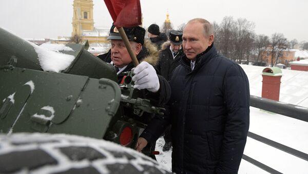 Vladimir Poutine dans la forteresse Pierre-et-Paul de Saint-Pétersbourg - Sputnik France