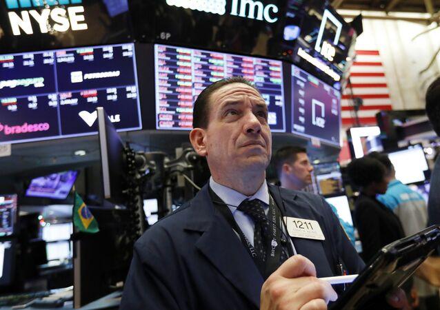 Un trader à New York