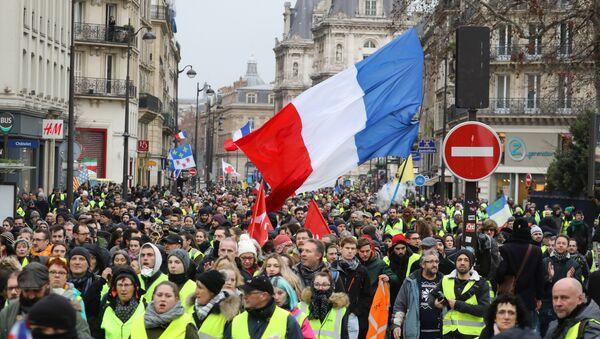 Gilets jaunes à Paris lors de lacte 9, le 12 janvier - Sputnik France