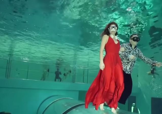 danse subaquatique