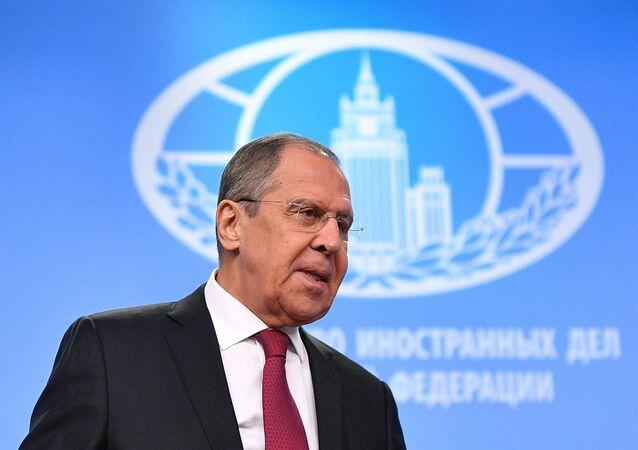 La première grande conférence de presse annuelle de Sergueï Lavrov