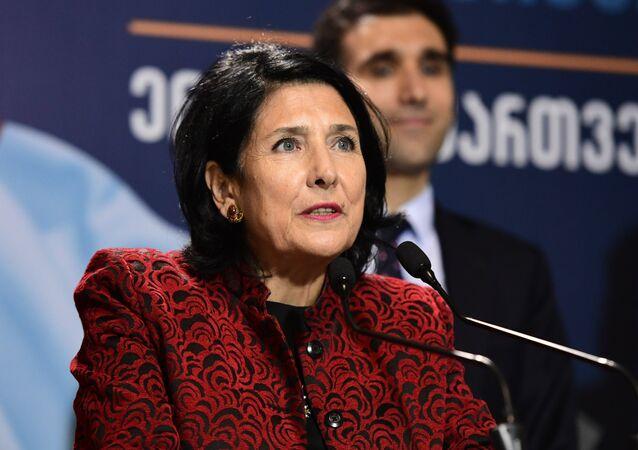 La Présidente géorgienne Salomé Zourabichvili