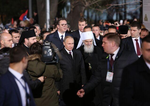 Vladimir Poutine à Belgrade
