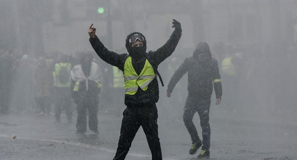 Acte 10 des Gilets jaunes à Paris (image d'illustartion)