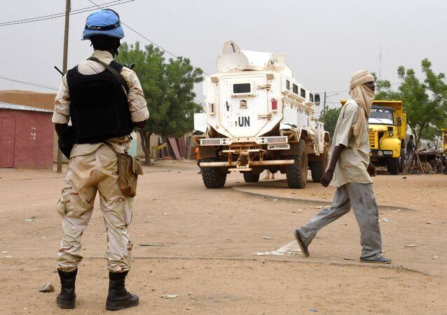 Un casque bleu au Mali (image d'illustration)