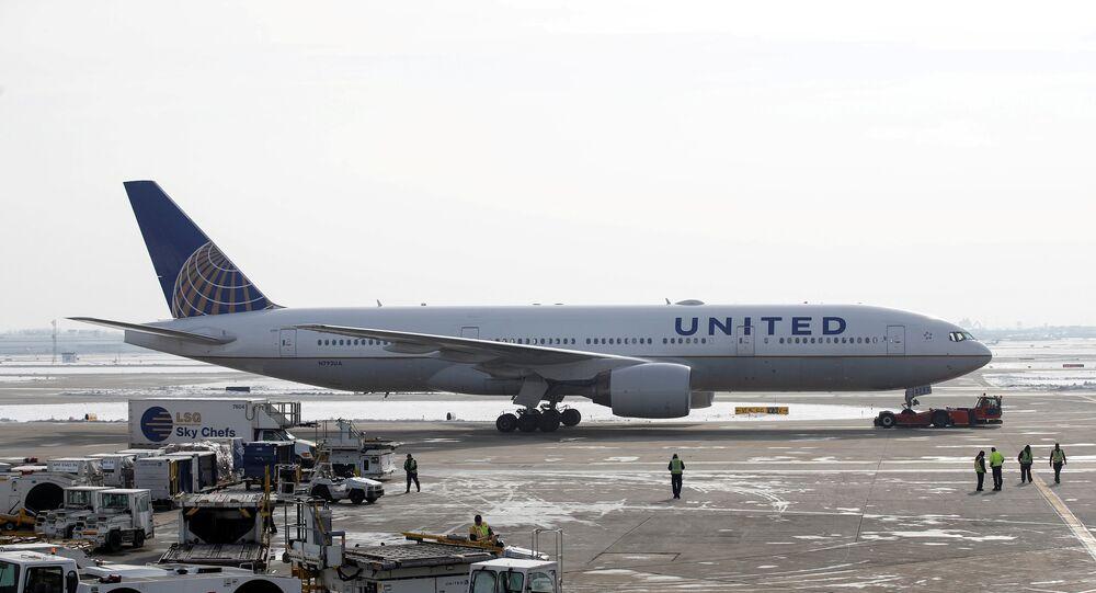 Un avion d'United Airlines