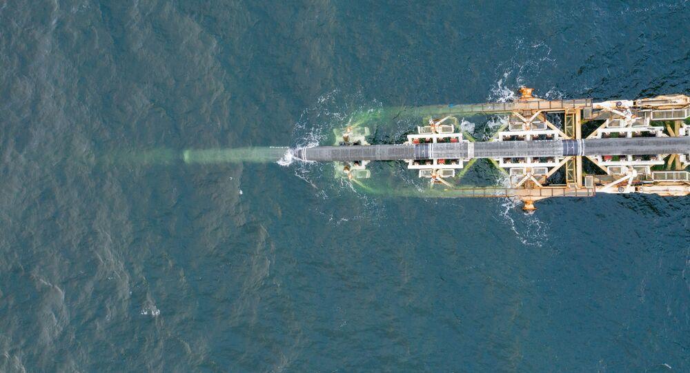 Bau der Nord Stream 2 - Pipeline