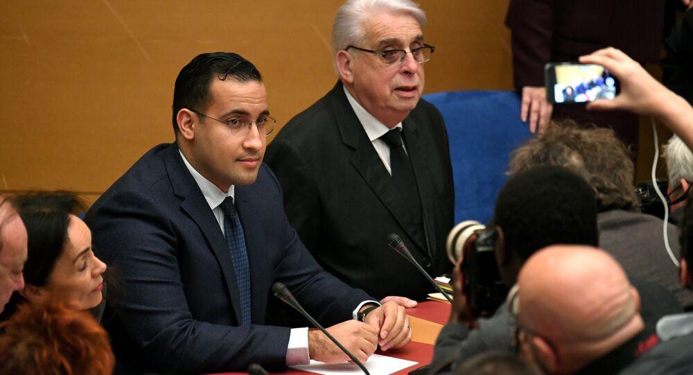 Alexandre Benalla auditionné par le comité d'enquête du Sénat, archives