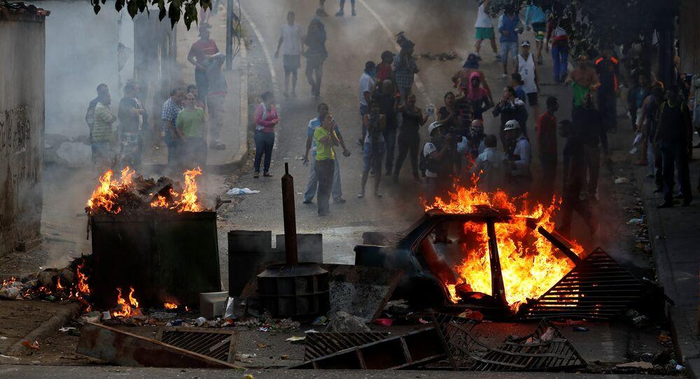 Protestations au Caracas