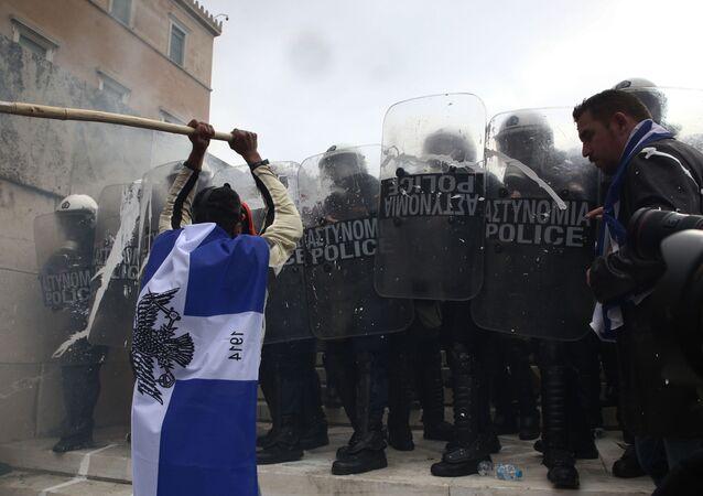 Manifestation contre le changement de nom de la Macédoine à Athènes