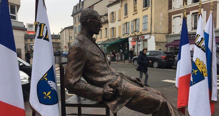 Le monument à la mémoire du Corbusier a été inauguré à Poissy le 24 janvier 2019