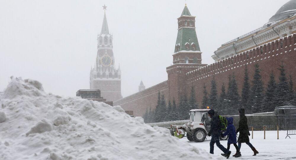 Chutes de neiges à Moscou