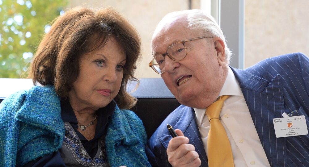 Jean-Marie Le Pen et son épouse Jany