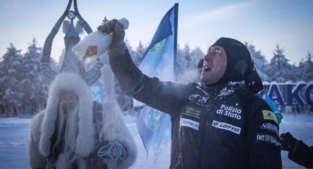 Paolo Venturini, marathonien italien en Sibérie