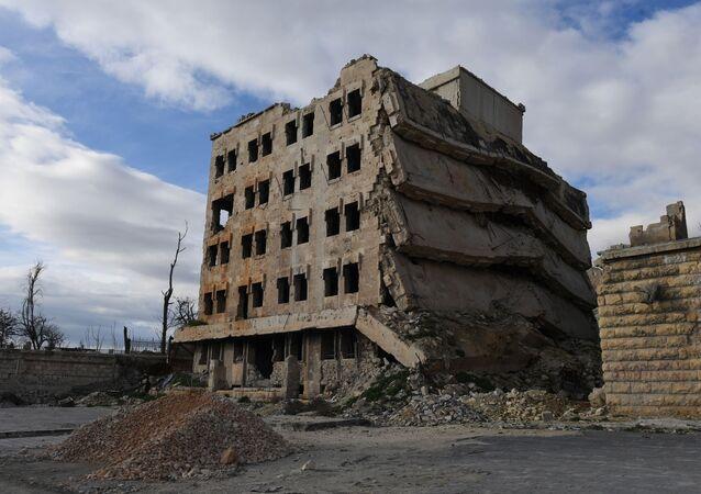 Bâtiments détruits dans la région d'Alep