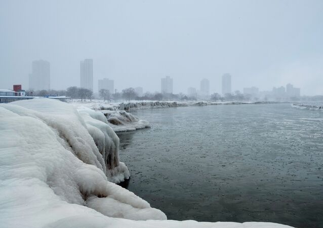 Le lac Michigan gelé