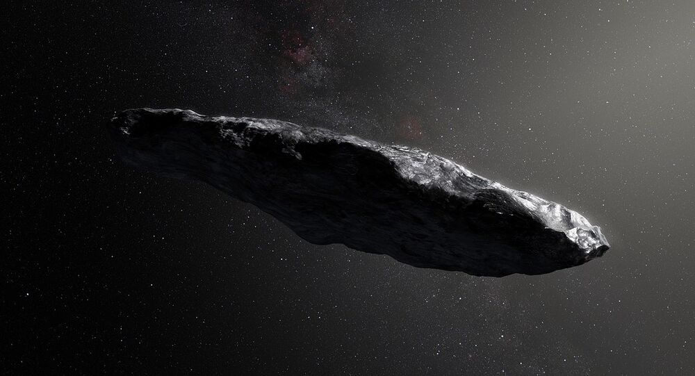 l'astéroïde interstellalire Oumuamua, image d'illustration