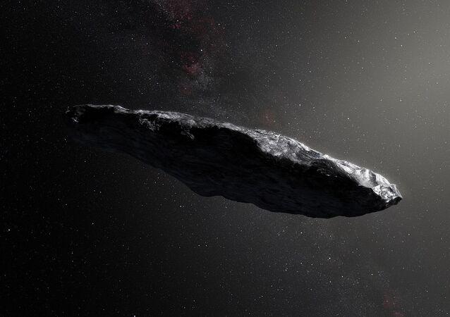 l'astéroïde interstellalire Oumuamua, image d'illustration